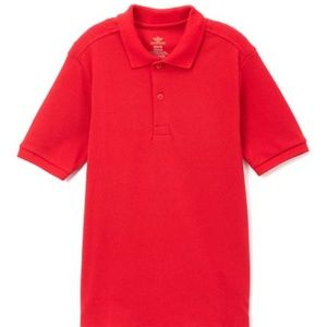 Boys Dockers Red Pique Cotton Polo LARGE 14/16